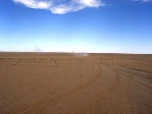Foto van stofwolk in Kidal, Sahara (Mali)