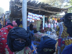 Foto van markt in Markoye (Burkina Faso)