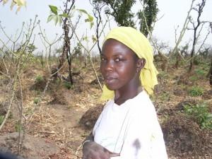 Foto van boerin Bimbila (Ghana)