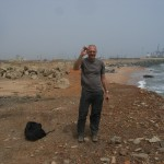 Picture of the author at Tema Harbour (Ghana)