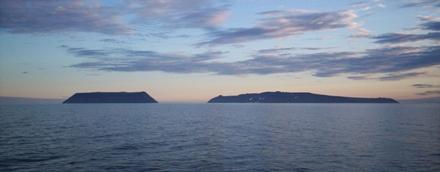 Foto van de Diomedes-eilanden