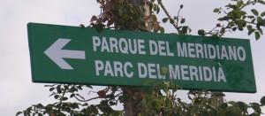 Picture of signpost Meridian Park Castellón de la Plana (Spain)